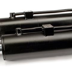 Hydraulic cylinder of a test machine for railway market